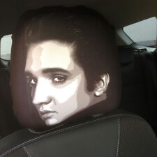 ELVIS FACE CAR SEAT HEAD REST COVERS PACK OF 2 DESIGN MADE IN YORKSHIRE