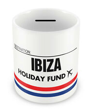 IBIZA Holiday Fund Money Box - Gift Idea Travelling Savings Piggy Bank