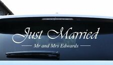 Just Married Personalised Sticker custom wedding car window sticker decal