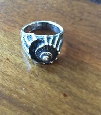 JAMES AVERY STERLING SILVER CONCH SHELL RING  - 6 grams Size 4.5