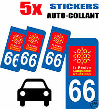 5 autocollants Style plaque immatriculation auto Département 66