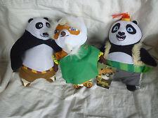 KUNG FU PANDA 3- Licensed SET of 3 Plush Soft Toy Doll BNWT 18-23cm Po, Shifu