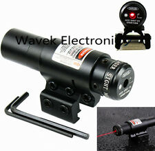Red Dot Laser Sight Scope For Air Gun Rifle Pistol Picatinny Mount20/11mm Adjust