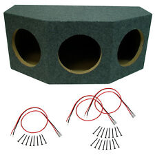 "Car Audio 3 Triple 10"" Sealed Stereo Subwoofer Enclosure Speaker Mdf Box Sub"
