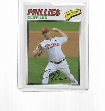 2012 TOPPS BASEBALL CLOTH STICKER CLIFF LEE #77C-CL