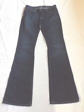 LADIES 7 FOR ALL MANKIND SIZE 29 BLUE DENIM JEANS HIGH WAIST BOOTCUT W34 L34