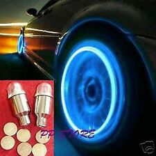 BLUE LIGHT TIRE WHEEL VALVE STEM CAP CAPS LIGHTS LED