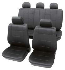 Luxury Leather Look Dark Grey Washable Seat Covers - Toyota Starlet 1996-1999