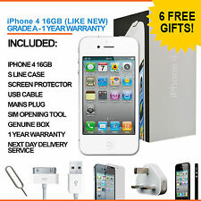Apple iPhone 4 16GB White Factory Unlocked Grade A