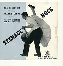 "7"" - Frankie Lymon and the Teenager - Teenage Rock - Columbia SEG 7662 -UK 1957"