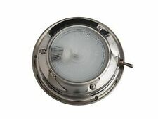 Flush Mounted  Boat / Caravan / Dome Light - Stainless Steel - 12 Volt G4 Xenon