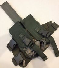 NEW ACU DOUBLE MAGAZINE MAG DROP LEG THIGH POUCH MILITARY TACTICAL MILITARY ARMY
