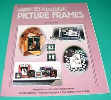 25 Nostalgic Picture Frames Stained Glass Pattern Book Kim Jorgensen SGN  NEW