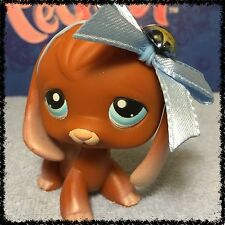 Littlest Pet Shop #233 Brown Beagle Puppy Dog w/ Blue Eyes Accessories