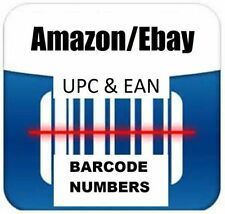 5 UPC EAN Codes Barcodes For any Ecommerce Websites !Lifetime Validity