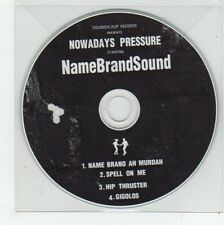 (FE928) NameBrandSound, Nowadays Pressure sampler - DJ CD