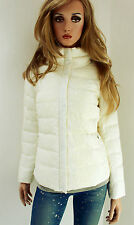 MARCCAIN Ladies Winter Jacket Down SILK LACE N1 34 36 XS Cream