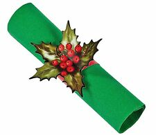 48 HOLLY Paper Napkin Rings Christmas Wedding Reception Party Supplies