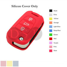 Silicone Cover Holder Shell fit for KIA Flip Remote Key Case 3 Button 11CLR RD