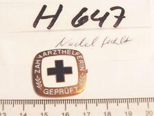 Schwesternbrosche Zahnarzthelferin geprüft ohne Nadel (h647)