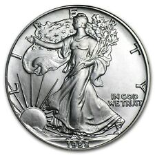 (1) 1988 AMERICAN SILVER EAGLE UNITED STATES MINT BRILLIANT UNCIRCULATED COIN!