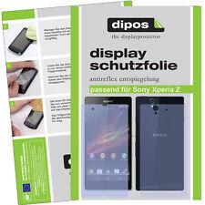 2x Sony Xperia Z Schutzfolie matt Displayschutzfolie Antireflex für Vorne+Hinten