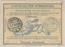 54322-Coupon Reponse-ROMA MODELLO: Germania - 40 scritto a mano oltre 30 PF 1918