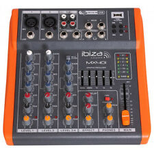 Ibiza Sound MX401 USB Audio Notepad Mixer Band PA System Studio