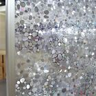 3D Decorative Window Static Film Stained Glass Frosted Vinyl Privacy Covering