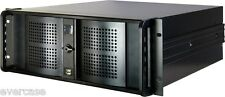 "4U 19"" black rackmount chassis. 9 Bays. 4U4098. Inter-Tech IPC4098-1. KM4098"