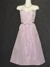 LAUNDRY by Shelli Segal Satin Light Purple Strapless Cocktail Dress SZ 6 NEW