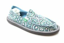 New SANUK Womens Donna Slip On Loafer Casual Sandal Shoes Blue Teal Size 7 DR2