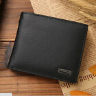 Mens Genuine Leather Trifold Wallet Credit/ID Card Coin Holder Purse Slim HK