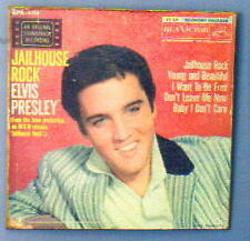 ELVIS PRESLEY King Rock and Roll Jailhouse Rock LP Cover Style TIN POSTER New