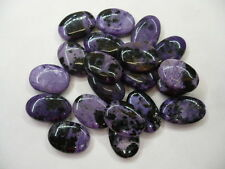 Russian Charoite Semi Precious Oval Beads Approx 16mm x 12mm  (20) Beads