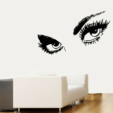 Wall Decals Girl Vinyl Sticker Eyes Decal Make Up Hair Beauty Salon Decor kk166