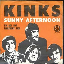 7inch THE KINKS sunny afternoon HOLLAND EX +PS 4 lp cover back
