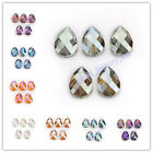 Charm Jewelry Finding Faceted Colorized Glass Crystal Teardrop Spacer Beads 24mm