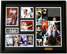 New Lady GaGa Signed Limited Edition Memorabilia Framed