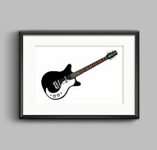 Jimmy Page's Danelectro 3021 guitar POSTER PRINT A1 size