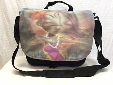 Sinful Messenger Bag, Hawaiian Girl, Black Shoulder Bag,purse