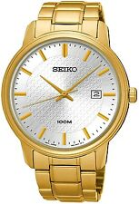 SEIKO SUR198P1 Neo Classic Date White Dial WR 100m 2 Year Guarantee RRP £239.00