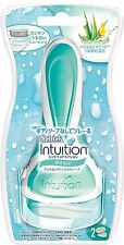 New Schick Intuition Holder For sensitive skin (with 2 replacement blades) F/S