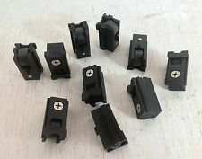 10 Adjustable Upright Window Rollers for Aluminium Windows, Black Wheel (5824)