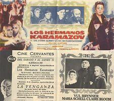 Programa de CINE. Título película: LOS HERMANOS KARAMAZOV.