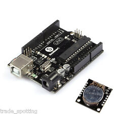 UNO R3 ATmega328P ATmega16U2 + DS1307 AT24C32 Real Time Clock Model  for Arduino