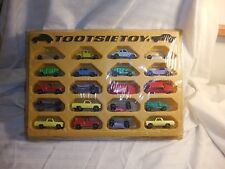 Vintage Tootsietoy Plastic Display Case Sealed W/25 Cars! CAN'T FIND ONE LIKE IT