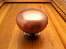 """NEW BRUSHED COPPER ROUND 1-1/4"""" CABINET KNOB FREE SHIPPING"""