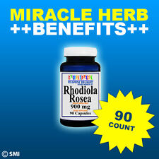 Rhodiola Rhodola Rosea 900mg -90 Capsules Relax, Brain, Energy + Many Benefits