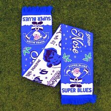 SANTA IS A EVERTON FAN FOOTBALL SCARF CHRISTMAS GIFT